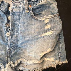 Vintage style Abercrombie denim shorts